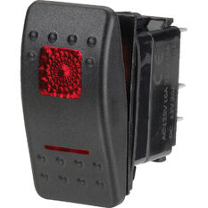 Narva Rocker Switch - Off/On, Sealed Switch, Red LED, , scaau_hi-res