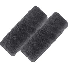 SCA Seat Belt Buddies - Sheepskin, Black, Pair, , scaau_hi-res