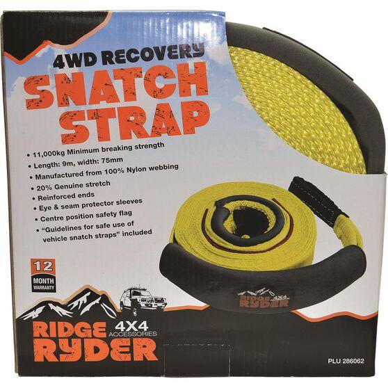 Ridge Ryder 4WD Snatch Strap - 9m, 11000kg, , scaau_hi-res