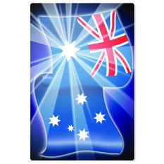 Hot Stuff Sticker - Aussie Flag, Vinyl, , scaau_hi-res