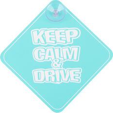 Cabin Crew Kids Keep Calm & Drive Sign, , scaau_hi-res
