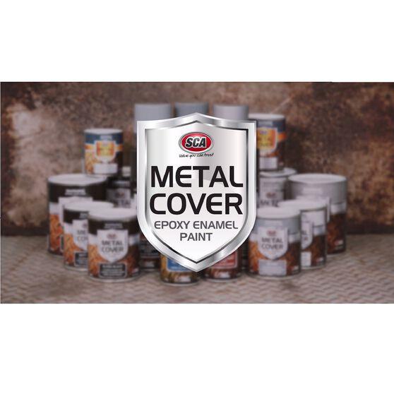SCA Metal Cover Enamel Rust Paint Gloss White 1 Litre, , scaau_hi-res