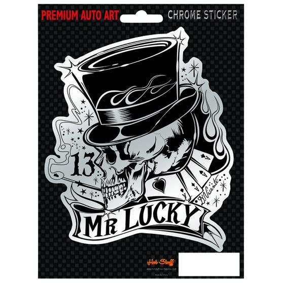 Hot Stuff Sticker - Mr Lucky, Chrome, , scaau_hi-res