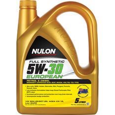 Nulon Full Synthetic Euro Engine Oil - 5W-30 5 Litre, , scaau_hi-res