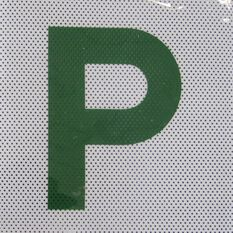 P Plate - Clear Vision, Green, QLD, 2 Pack, , scaau_hi-res