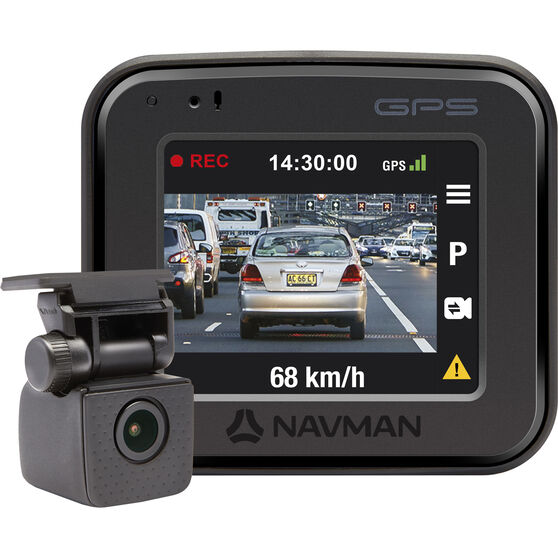 Navman 1080 Front and Rear Dash Cam with GPS FOCUS400