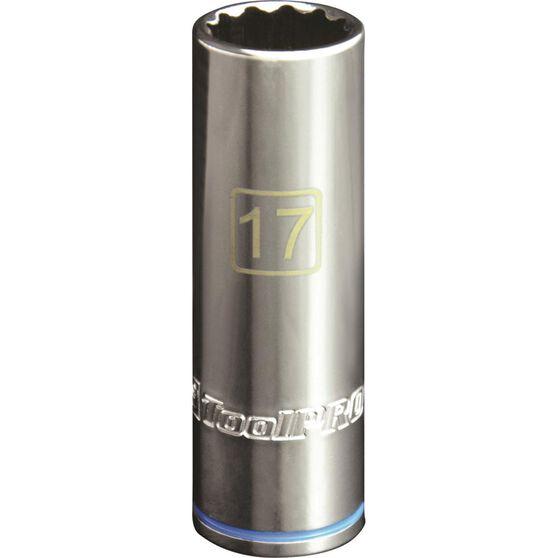 ToolPRO Single Socket - Deep, 1 / 2 inch Drive, 17mm, , scaau_hi-res