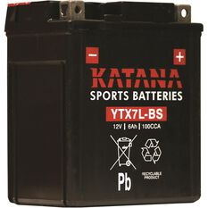 Powersports Battery -  YTX7LBS, , scaau_hi-res