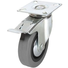 SCA Caster Wheel - 100 x 25mm, Metal Brake, Swivel, , scaau_hi-res