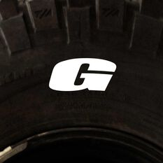 Tire Stickers - Letter G, , scaau_hi-res