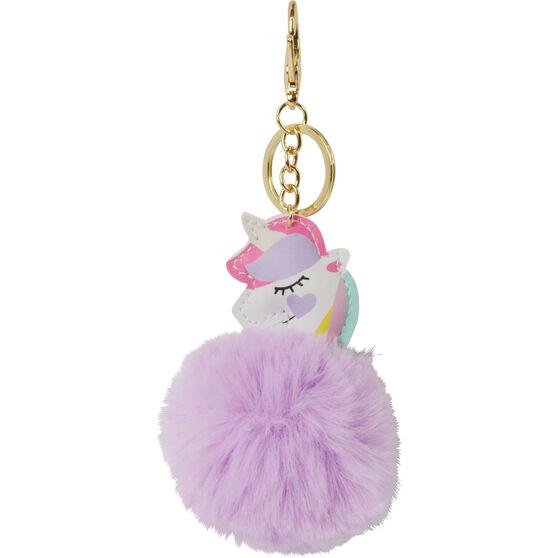 Pom Pom Keyring - Unicorn, , scaau_hi-res