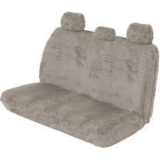 SCA Comfort Fur Seat Cover - Grey, Adjustable Headrests, Size 06H, Rear Seat, , scaau_hi-res