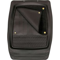 SCA Premium Combo Floor Mats - Removable Carpet, Black, Set of 4, , scaau_hi-res