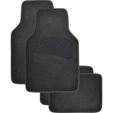SCA Luxury Carpet Floor Mats - Carpet, Black, Set of 4, , scaau_hi-res