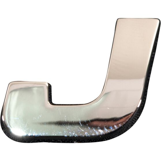 SCA 3D Chrome Badge Letter J, , scaau_hi-res