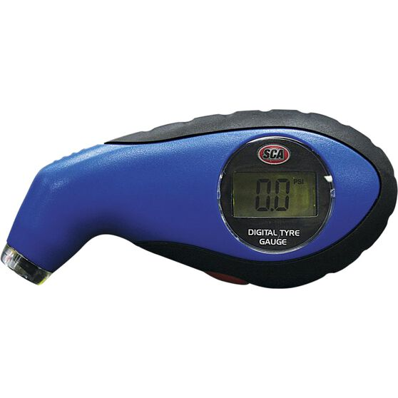 SCA Digital Tyre Gauge w / Light - 0-100 PSI, , scaau_hi-res