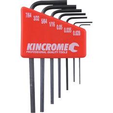 Kincrome Mini Hex Keys SAE 7 Piece, , scaau_hi-res