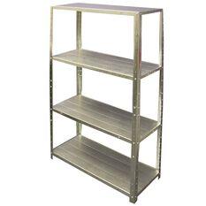 SCA 4 Shelf Unit - Galvanised, 710mm, 50kg, , scaau_hi-res