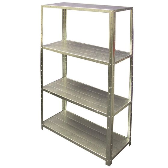 SCA 4 Shelf Unit Galvanised 50kg, , scaau_hi-res