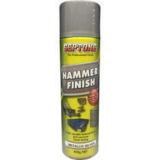 Aerosol Paint - Hammer Finish, Metallic Silver, 400g, , scaau_hi-res