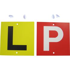 P & L Plate - Double Sided, White Standard, VIC & WA, 2 Pack, , scaau_hi-res