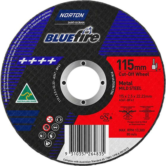Norton Metal Cut off Disc - 115mm x 2.5mm x 22mm, , scaau_hi-res