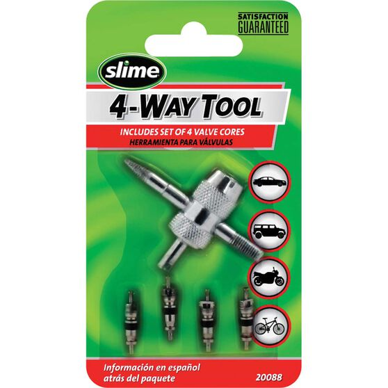 Slime 4-Way Valve Tool with Cores - 5 Piece, , scaau_hi-res