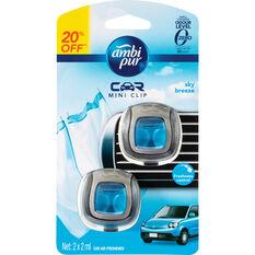 Ambi Pur Mini Air Freshener - Sky Breeze, 2 Pack, , scaau_hi-res