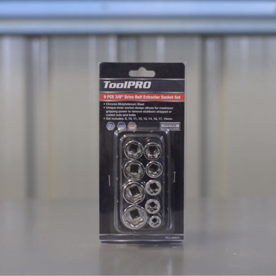 ToolPRO Bolt Extractor Socket Set - 3 / 8 inch, 9 Piece, , scaau_hi-res