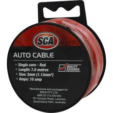 SCA Auto Cable - 10 AMP, 3mm, 7m, Red, , scaau_hi-res