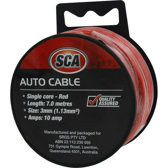 Auto Cable - 10 Amp, 3mm, 7m, Red, , scaau_hi-res