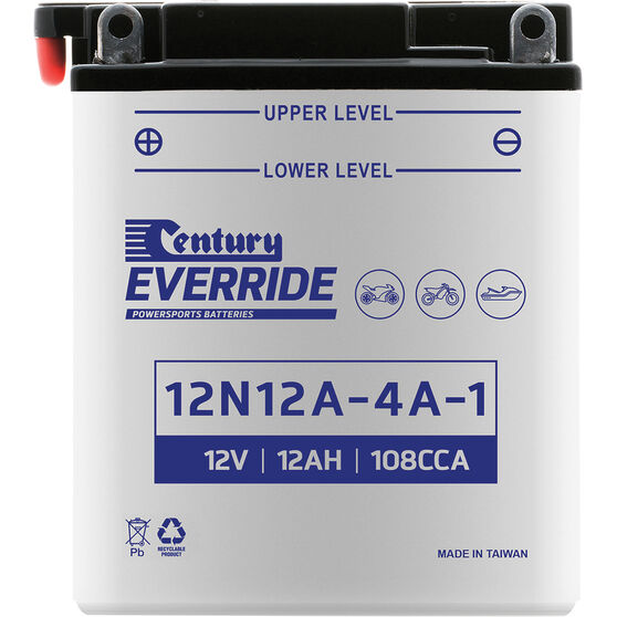 Century Powersports Battery 12N12A-4A-1, , scaau_hi-res
