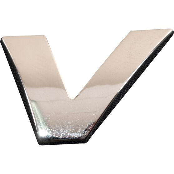 SCA 3D Chrome Badge Letter V, , scaau_hi-res