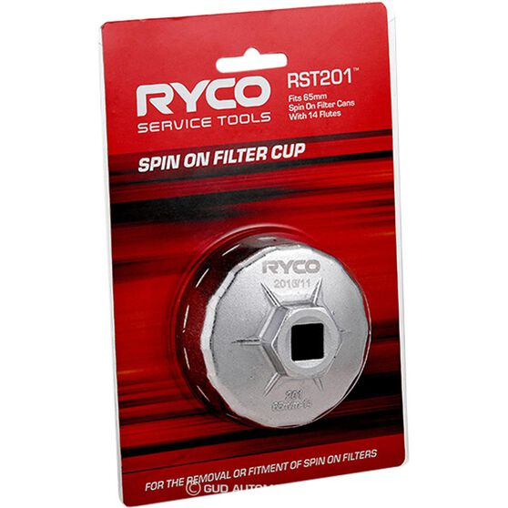 Ryco Oil Filter Cup Wrench - RST201, , scaau_hi-res