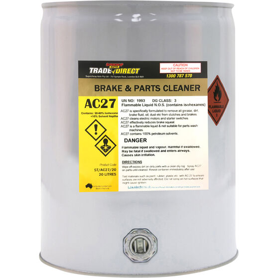 Trade Direct Brake and Parts Cleaner, ST/AC27/20 - 20 Litre, , scaau_hi-res