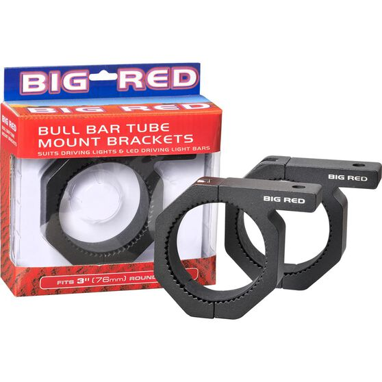 Big Red Driving Light - Bull Bar Mounts, 76mm, , scaau_hi-res
