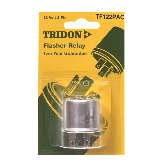 Tridon Flasher Relay Unit, Non Load Sensitive, Thermal - 12V, 2 Pin, , scaau_hi-res
