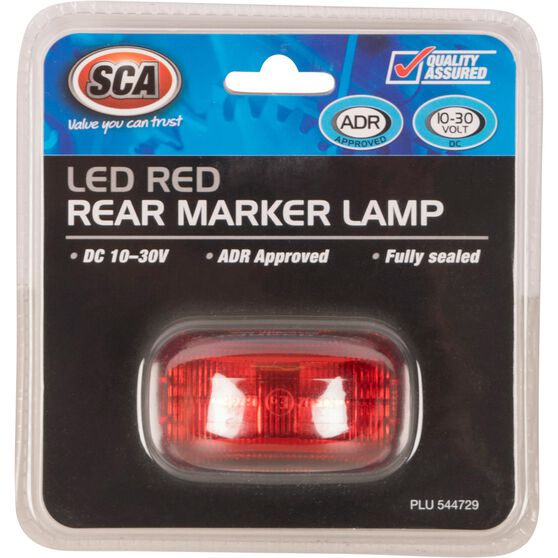 SCA Side Marker - LED, Red, 10-30V, , scaau_hi-res