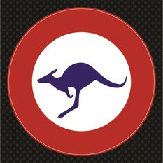 Hot Stuff Sticker - Kangaroo Badge, Vinyl, , scaau_hi-res