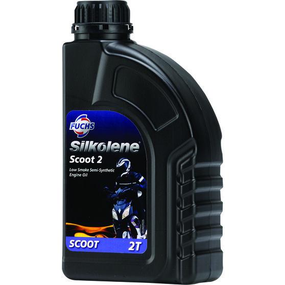 Silkolene Scoot 2 Low Smoke Scooter Oil - 1 Litre, , scaau_hi-res