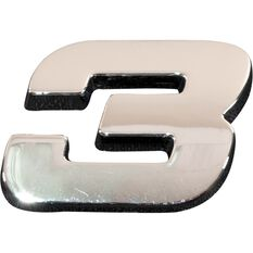 SCA 3D Chrome Badge Number 3, , scaau_hi-res