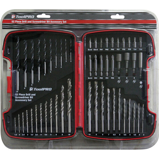 ToolPRO Drill and Bit Kit - 52 Piece, , scaau_hi-res