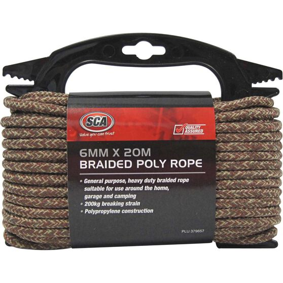 SCA 16 Strand Braided Poly Rope - 6mm X 20m, , scaau_hi-res