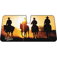 R.M. Williams Horses Sunshade Accordion Front, , scaau_hi-res