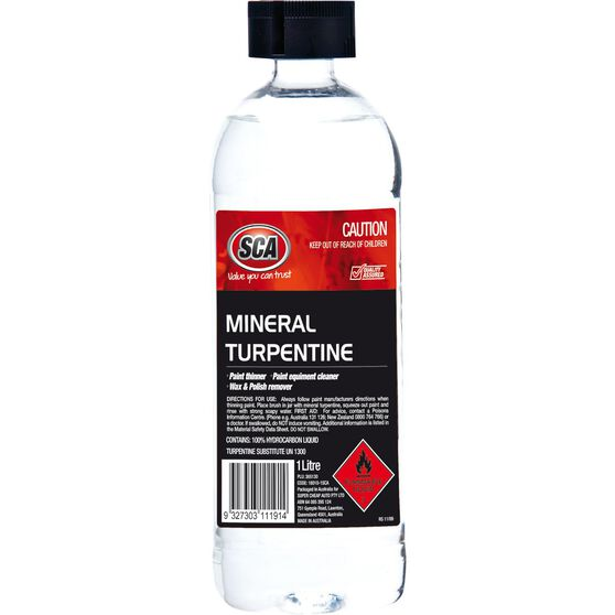 SCA Mineral Turpentine - 1 Litre, , scaau_hi-res