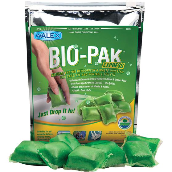 Walex Bio-Pak Toilet Additive Sachets Green Citrus 15 Pack, , scaau_hi-res