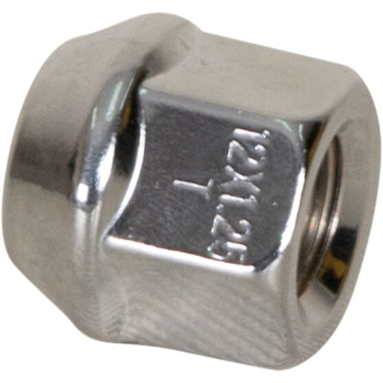 Calibre Wheel Nuts, Tapered Open End, Chrome - OEN12125, 12mm x 1.25mm, , scaau_hi-res