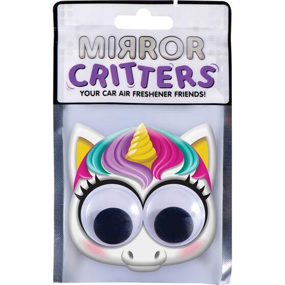 Mirror Critter Air Freshener - Unicorn Cotton Candy, , scaau_hi-res