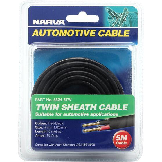 Narva Automotive Cable Twin Sheath 5 Metres 15 AMP, , scaau_hi-res