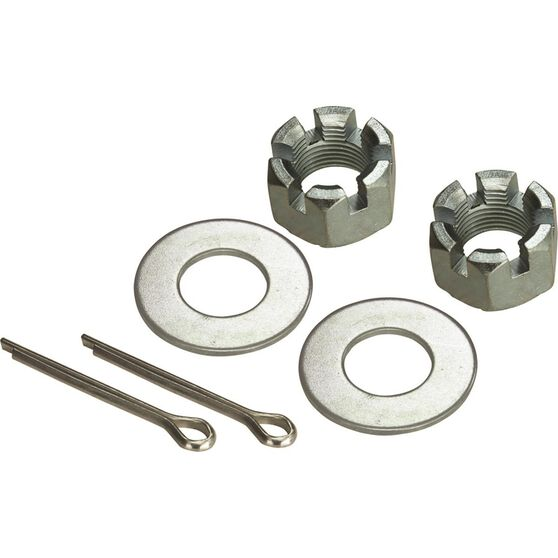 SCA Axle Nut Kit - Axle Nut, Washers and Split Pins, , scaau_hi-res